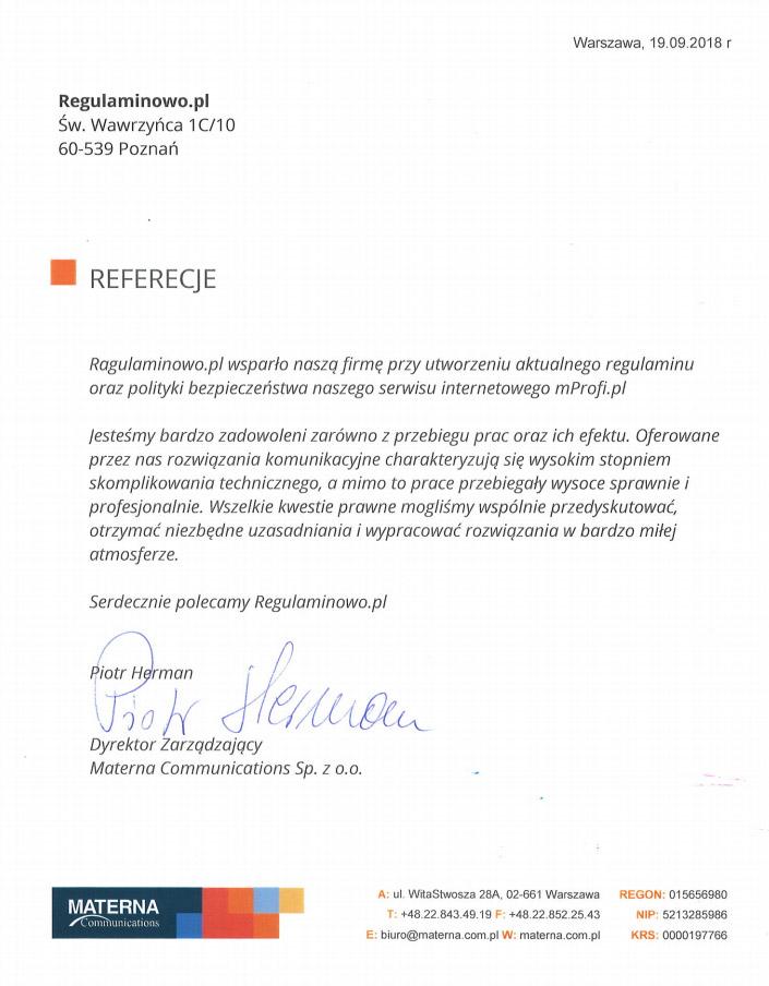 d1ebc2dce74b56 Przeczytaj opinie naszych Klientów o usługach prawników z serwisu  Regulaminowo.pl