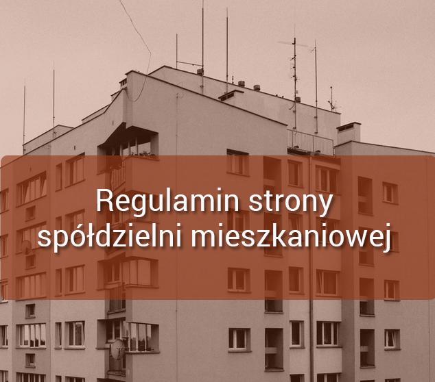 regulamin strony spółdzielni mieszkaniowej