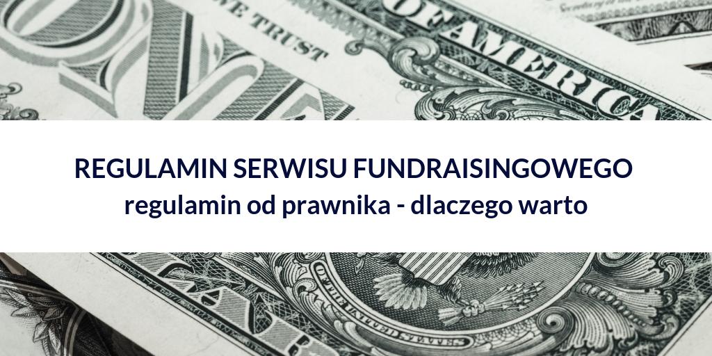 regulamin serwisu fundraisingowego