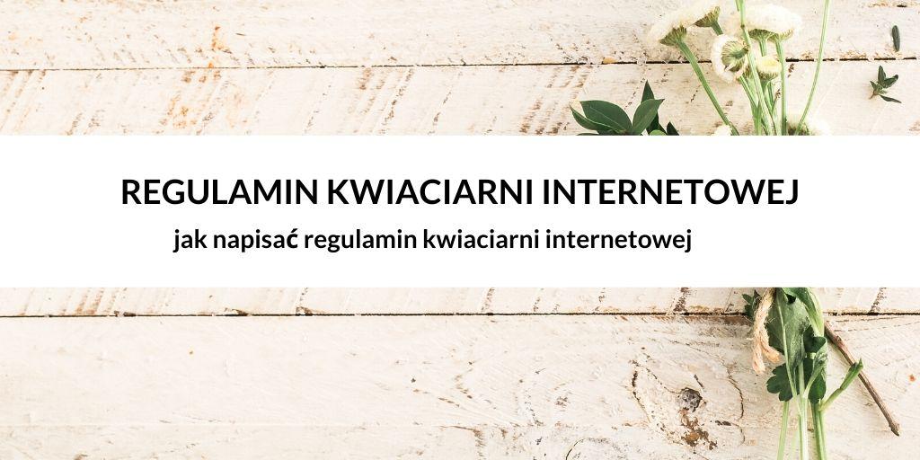 Regulamin kwiaciarni internetowej